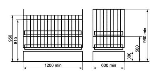 кровать с ограждением и переменной высотой ложа для детей до 3 лет