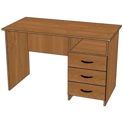 Стол письменный со встроенной тумбой (ниша + 3 ящика)1200х600х750